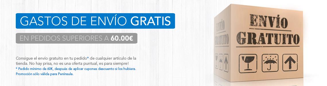 Gastos de envío gratis para pedidos superiores a 60€