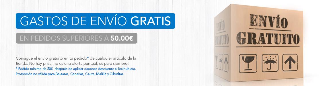 Gastos de envío gratis para pedidos superiores a 50€