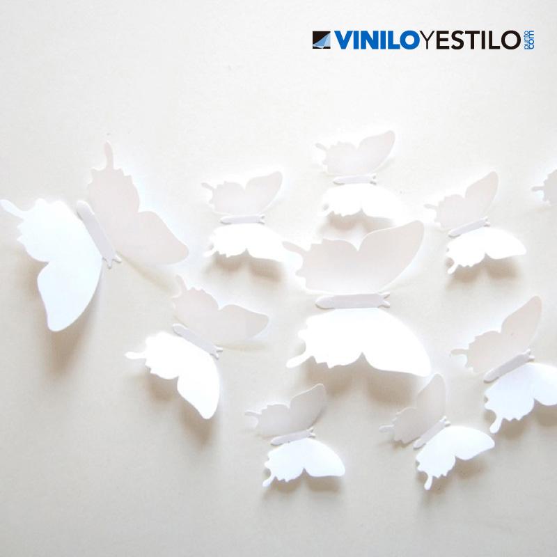 Mariposas 3d - Papel para decoracion de paredes ...