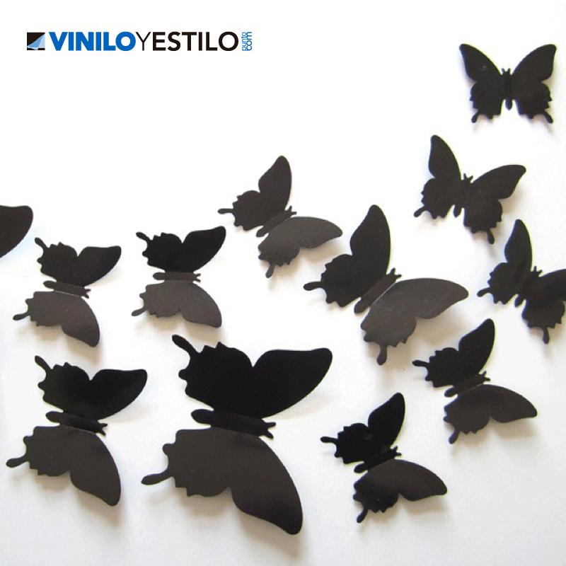 Mariposas 3d - Placas de vinilo para paredes ...