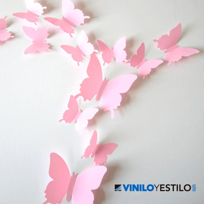 Mariposas 3d for Papel con relieve para pared